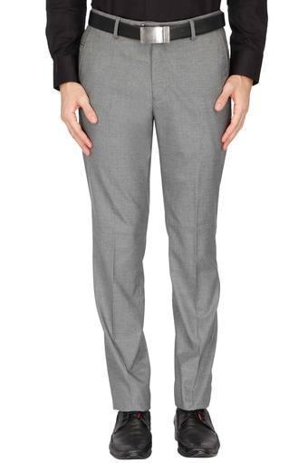 Mens 4 Pocket Slub Formal Trouser