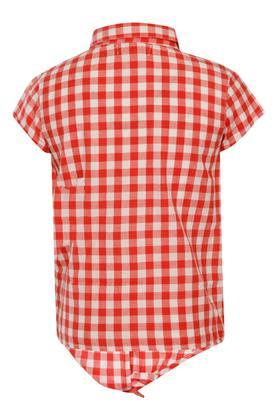 Girls Checked Casual Top