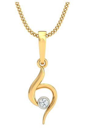 P.N.GADGIL JEWELLERS Womens Stylish Diamond Pendant DJPD-N2