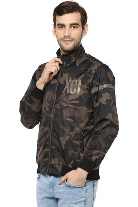Mens Zip Through Neck Camouflage Jacket