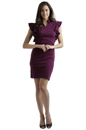 Womens Solid Bodycon Dress