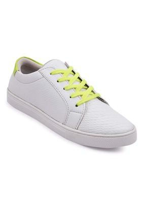 Mens PU Lace Up Sneakers