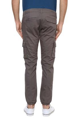 Mens 6 Pocket Solid Cargos