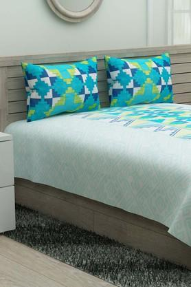 IVYPrinted Double Bedsheet With 2 Pillow Covers - 203980888_9668