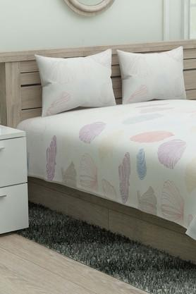 SPACES Printed Single Bed Sheet With Pillow Cover