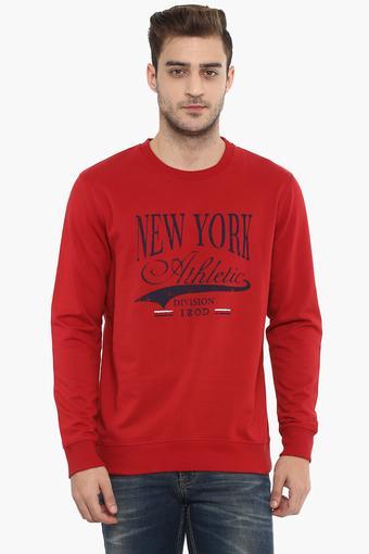 Mens Round Neck Printed Sweatshirt