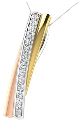 SILVER IMPRESSIONSparkles 18 Kt 0.08 Cts Diamond Pendant - P12577