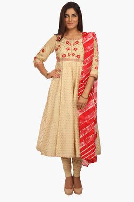 BIBA Women Poly Cotton Anarkali Suit