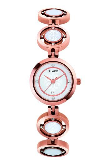 Womens White Dial Analogue Watch - TWEL12202T