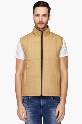 COLOR PLUSMens Zip Through Neck Solid Reversible Jacket - 203008763