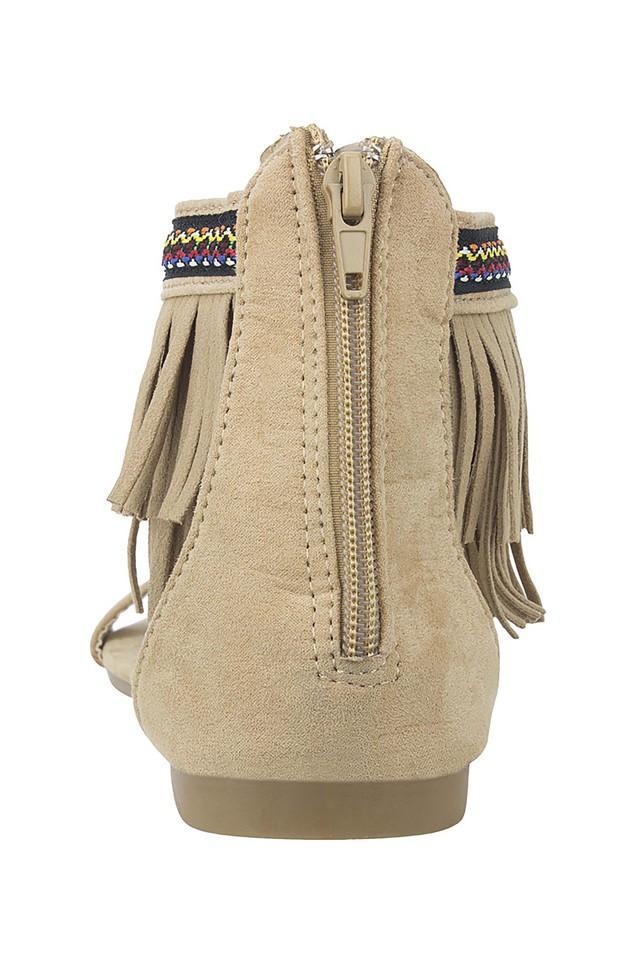 Womens Casual Wear Zipper Closure Flats
