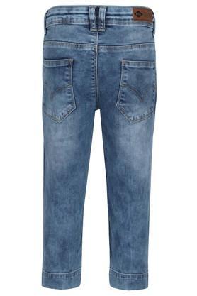 Girls 5 Pocket Acid Wash Jeans