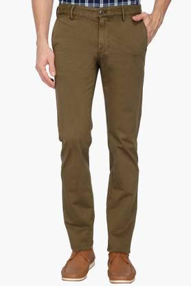 INDIAN TERRAIN Mens 4 Pocket Solid Chinos (Brooklyn Fit) - 202874966