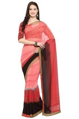 DEMARCAWomens Stripe Saree With Blouse Piece