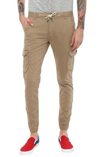 CELIO -  BeigeCargos & Trousers - Main