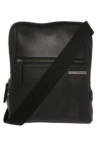 Unisex Zip Closure Crossbody Bag