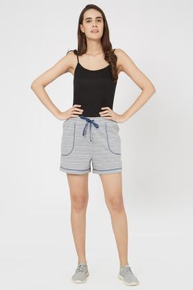 Womens Boxy Fit Slub Shorts