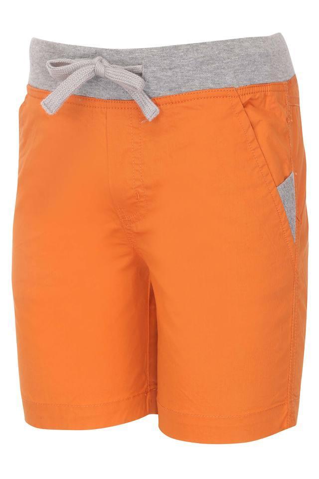 Boys 3 Pocket Solid Shorts