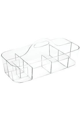 Rectangular Transparent Cosmetic Organiser with 11 Compartments