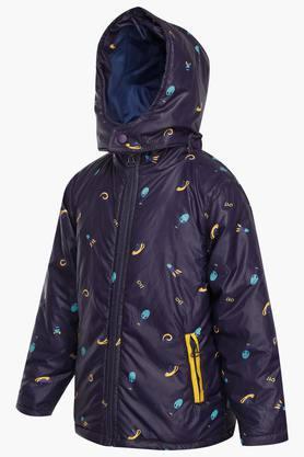 Boys Hooded Printed Jacket