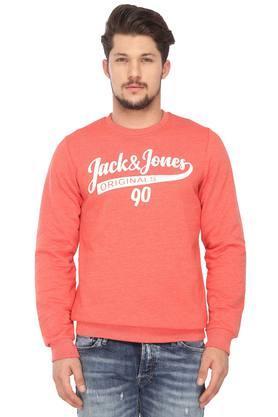 JACK AND JONESMens Round Neck Graphic Print Sweatshirt