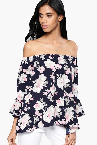 8c467636c2d29 Buy NUSH Womens Off Shoulder Floral Print Top