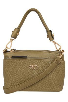 E2O Womens Zipper Closure Satchel Handbag - 204276848_9465