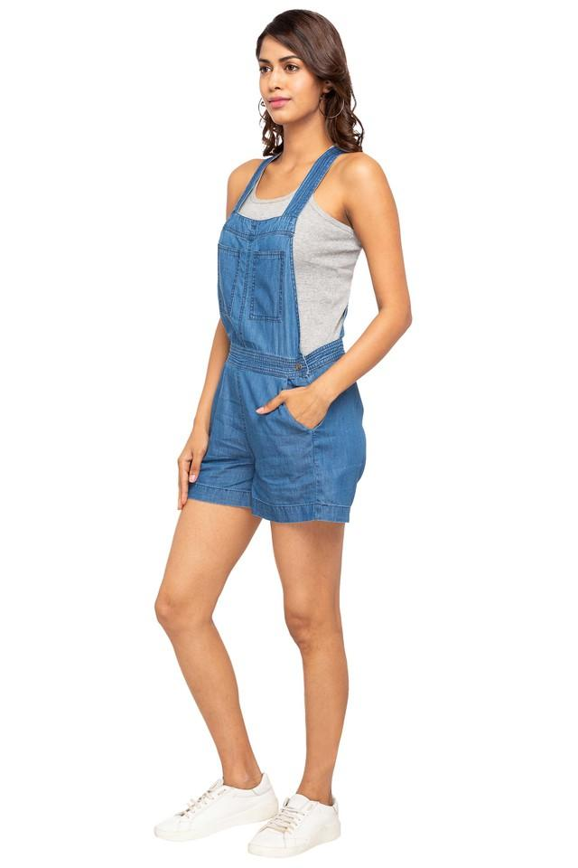 Womens Washed Casual Dungaree