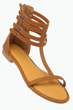 ALLEN SOLLYWomens Casual Wear Zipper Closure Flats