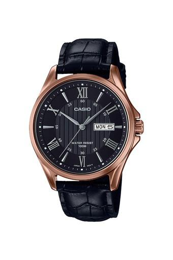 Mens Black Dial Analogue Watch - A1407