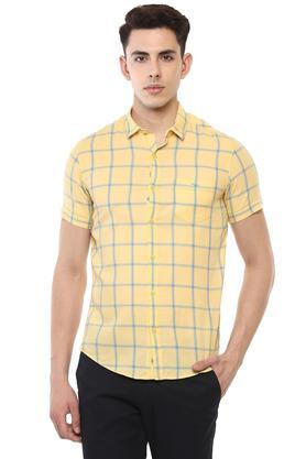 b4e9f6d10a X MUFTI Mens Checked Casual Shirt