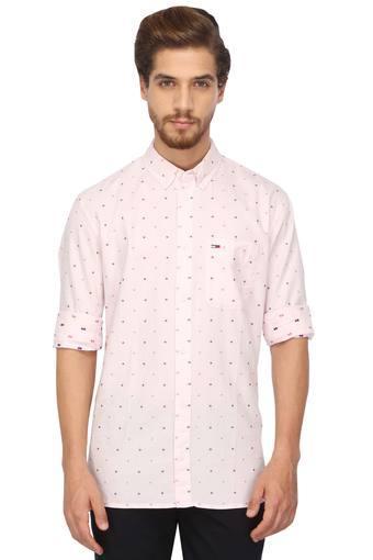 TOMMY HILFIGER -  PurpleCasual Shirts - Main