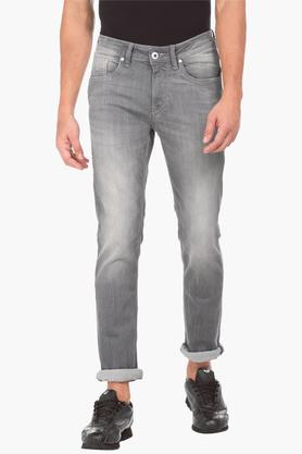 FLYING MACHINEMens Skinny Fit Heavy Wash Jeans (Jackson Fit)