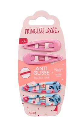 Girls Solid and Printed Tic Tac Hair Clips Pack of 4