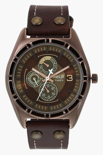 Mens Multi-Function Leather Watch - TW029HG15