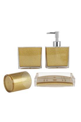 Gold Shimmer Finish Bath Set of 4