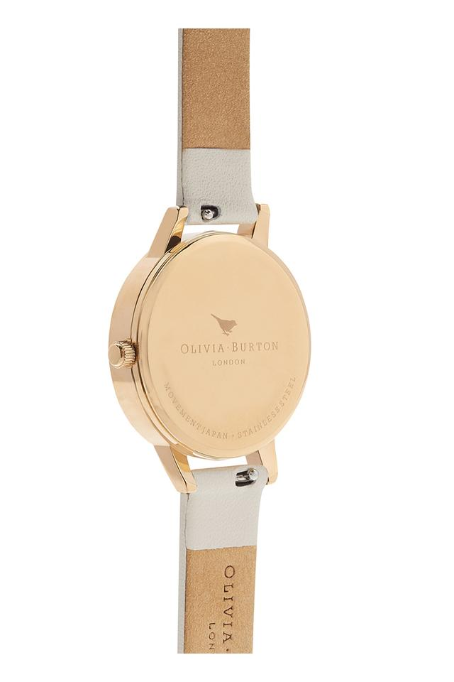 Womens Floral Round Dial Leather Analogue Watch - OB16CS15W