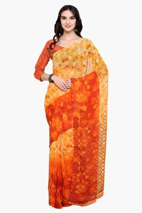 DEMARCA Womens Faux Georgette Printed Saree - 203229618