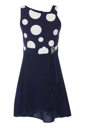 Girls Designer Neck A-Line Dress