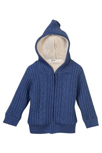 Boys Hooded Knitted Sweater