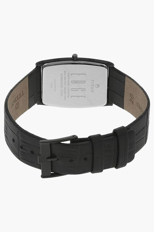 Mens Black Dial Leather Watch - NH1044NL01A