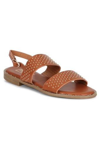 TRUFFLE COLLECTION -  Tan Floaters & Flip Flops - Main
