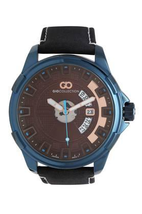 Mens Leather Analogue Watch - G1042-01