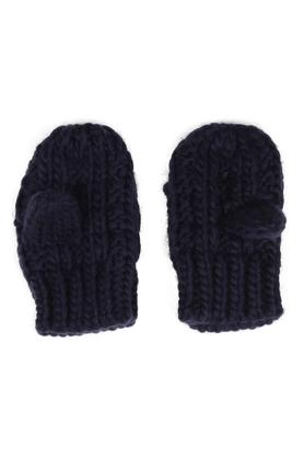 Boys Solid Woven Mittens