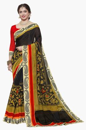 ISHINWomens Art Silk Printed Saree - 203495524_9212