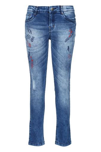 Boys 5 Pocket Printed Jeans