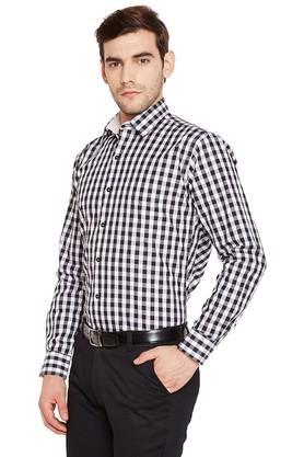 Mens Slim Fit Checked Formal Shirt