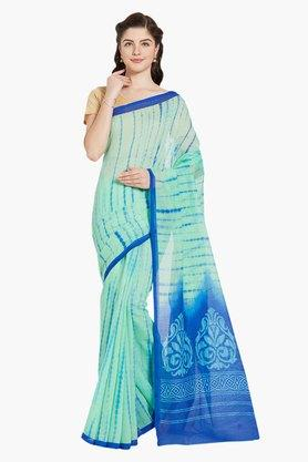 JASHN Womens Artsilk Leheriya Print Cotton Blend Saree
