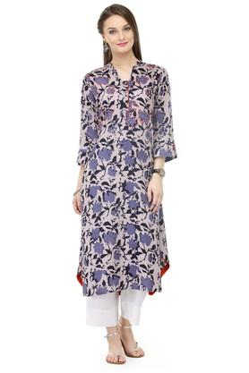 VARANGA Women Floral Print Kurta And Pant Set - 204516993_8931