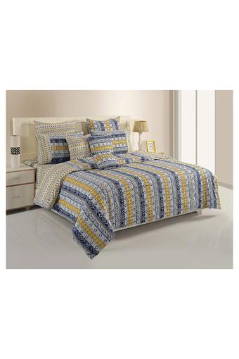 Blue and Mustard Stripes Single AC Comfortor